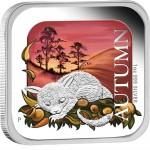 2013澳洲秋季精制方形銀幣