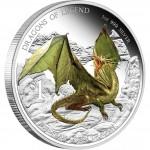 2013圖瓦盧歐洲龍精制銀幣