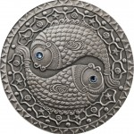 2009白俄羅斯雙魚座鋯石銀幣