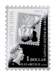 2013波蘭1860年郵票精制銀幣