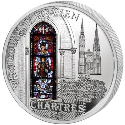 2013法國沙特爾大教堂精制銀幣