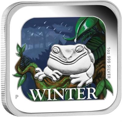 澳洲季節方形幣系列: 冬季 - 澳洲 - 2013 - 31.1g