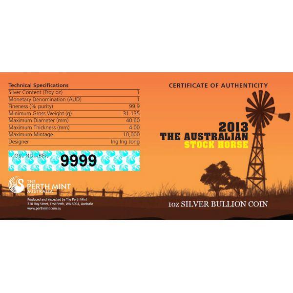Stock horse australia 2013 31g silvercoinstory