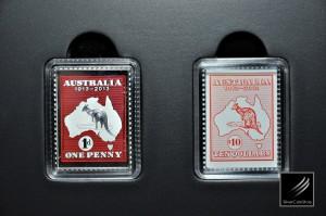 澳洲郵票百週年紀念精鑄銀幣 – 澳洲 – 2013 – 0.5oz