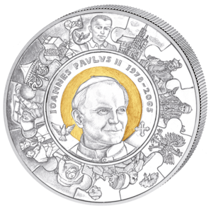 John Paul II. Canonization, Cook Islands, 2013, 28g