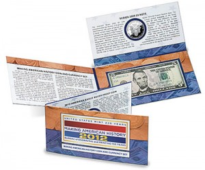Making American History Coin & Currency Set, US, 2012, 1oz