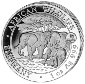Elephant with Snake Privy, Somalia, 2013, 1oz