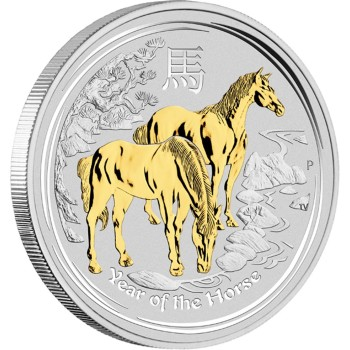 Year of the Horse Gilded, Australia, 2014, 1oz