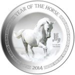 Year of the Horse (the White Horse), Niue, 2014, 0.5oz
