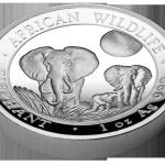 High Relief Elephant, Somali, 2014, 1oz
