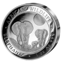 High Relief Elephant, Somali, 2014, 1oz