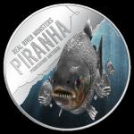 Real River Monsters: Piranha, Niue, 2013, 1oz