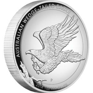 Wedge-tailed Eagle, Australia, 2014, 1oz