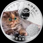 Friends of Man: Persian Cat, Niue, 2014, 17.5g