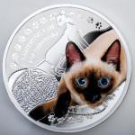 Friends of Man: Siamese Cat, Niue, 2014, 17.5g