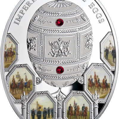 Imperial Faberge Eggs: 100th Anniversary of Patriotic War 1812, Niue, 2012, 56.56g