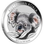 Koala Coloured in Card, Australia, 2014, 1oz