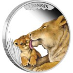 Mother's Love: Lioness, Tuvalu, 2014, 1/2oz