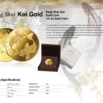 Feng Shui Koi Gold, Niue, 2014, 1/4oz