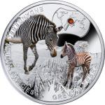 Endangered Animal Species: Grevy's Zebra, Niue, 2014, 17.5g