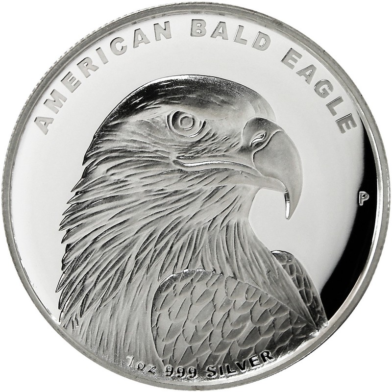 American Bald Eagle High Relief, Tuvalu, 2014, 1oz