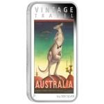 Australia Vintage Travel Poster: Kangaroo, Australia, 2014, 1oz