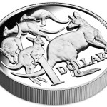 30th Anniversary of the $1 Coin: Mob of Roos High Relief, Australia, 2014, 1oz