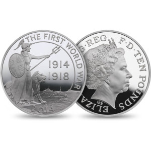 First World War Outbreak Silver Proof Five-Ounce Coin