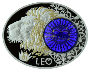 Zodiac Signs: Leo, Niue, 2014, 21g