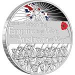 The ANZAC Spirit 100th Anniversary Coin Series: Declaration of War, Australia, 2014, 1oz