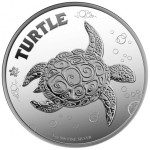 Hawksbill Turtle, Niue, 2014, 1oz