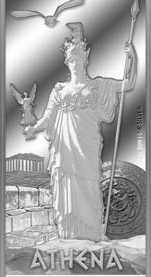 Gods of Ancient Greece: Athena, Niue, 2014, 2oz