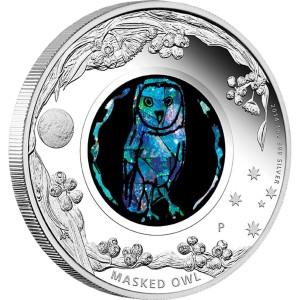 Australian Opal Series: Masked Owl, Australia, 2014, 1oz