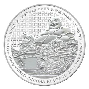2014 WBH Maitreya 1oz Silver Obv