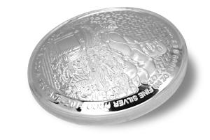 2014 WBH Maitreya 1oz Silver convex