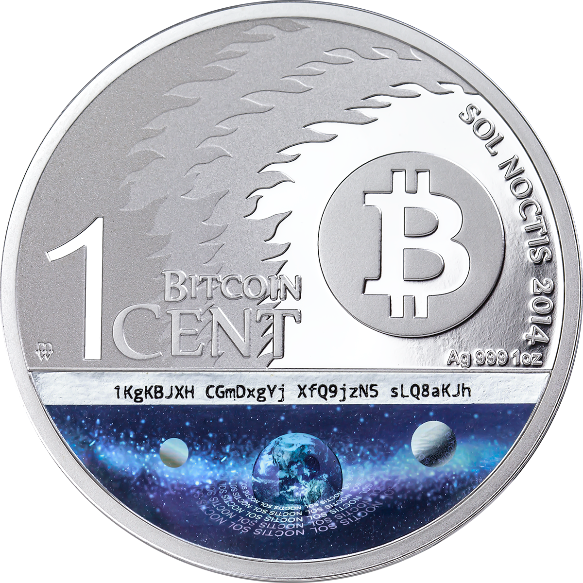 Sol Noctis Series The Binary Eagle Btc 2014 1oz