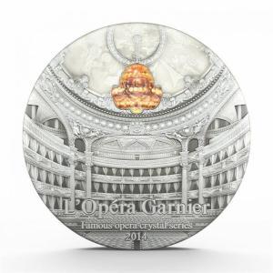 Famous Opera Crystal: Opera Garnier, Palau, 2014, 2oz