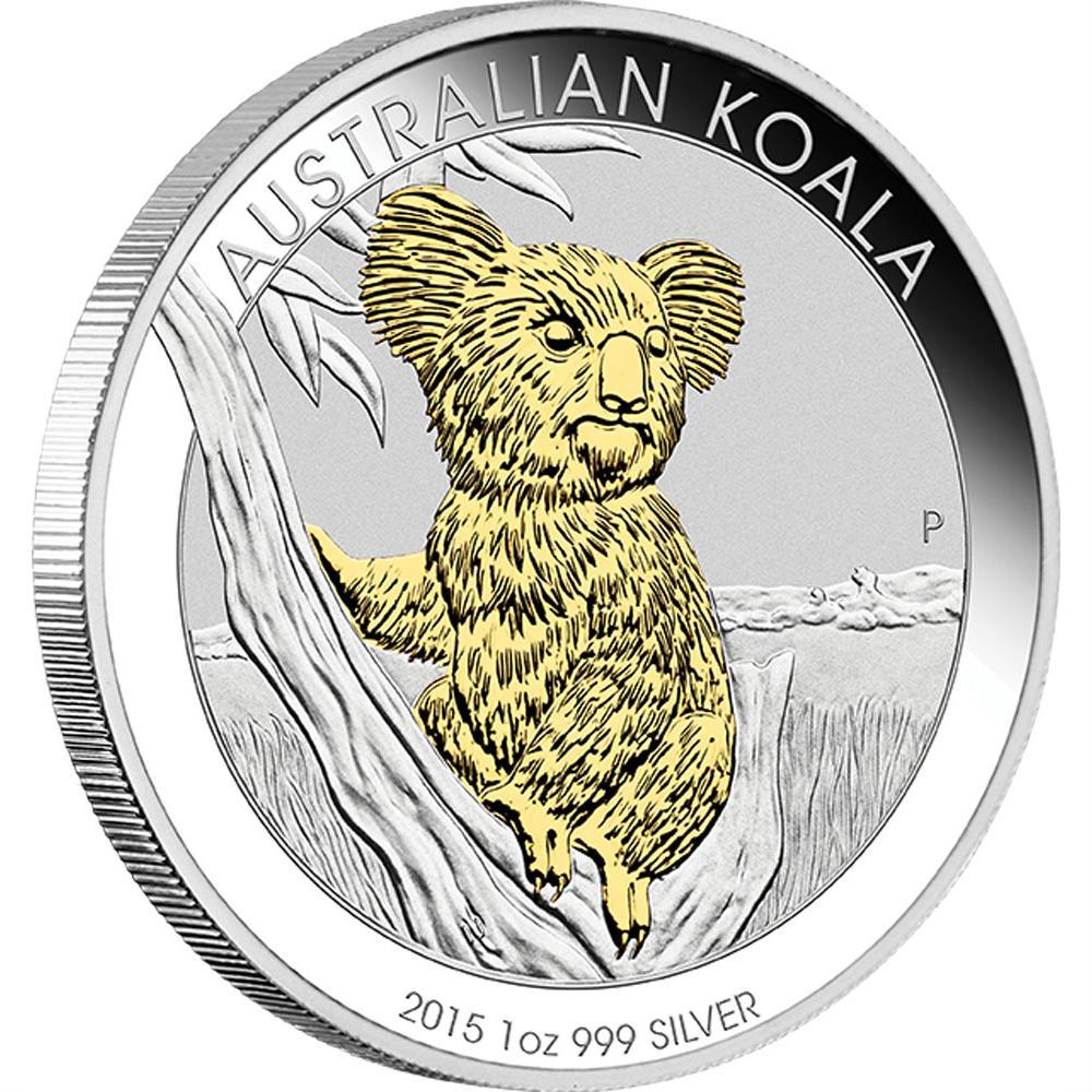Koala Gilded Australia 2015 1oz Silvercoinstory