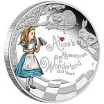 150th Anniversary of Alice's Adventures in Wonderland, Tuvalu, 2015, 1oz, .999