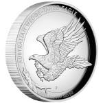 Australian Wedge-Tailed Eagle High Relief, Australia, 2015, 1oz, .999