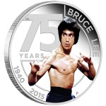 75th Anniversary of Bruce Lee, Tuvalu, 2015, 1oz, .999