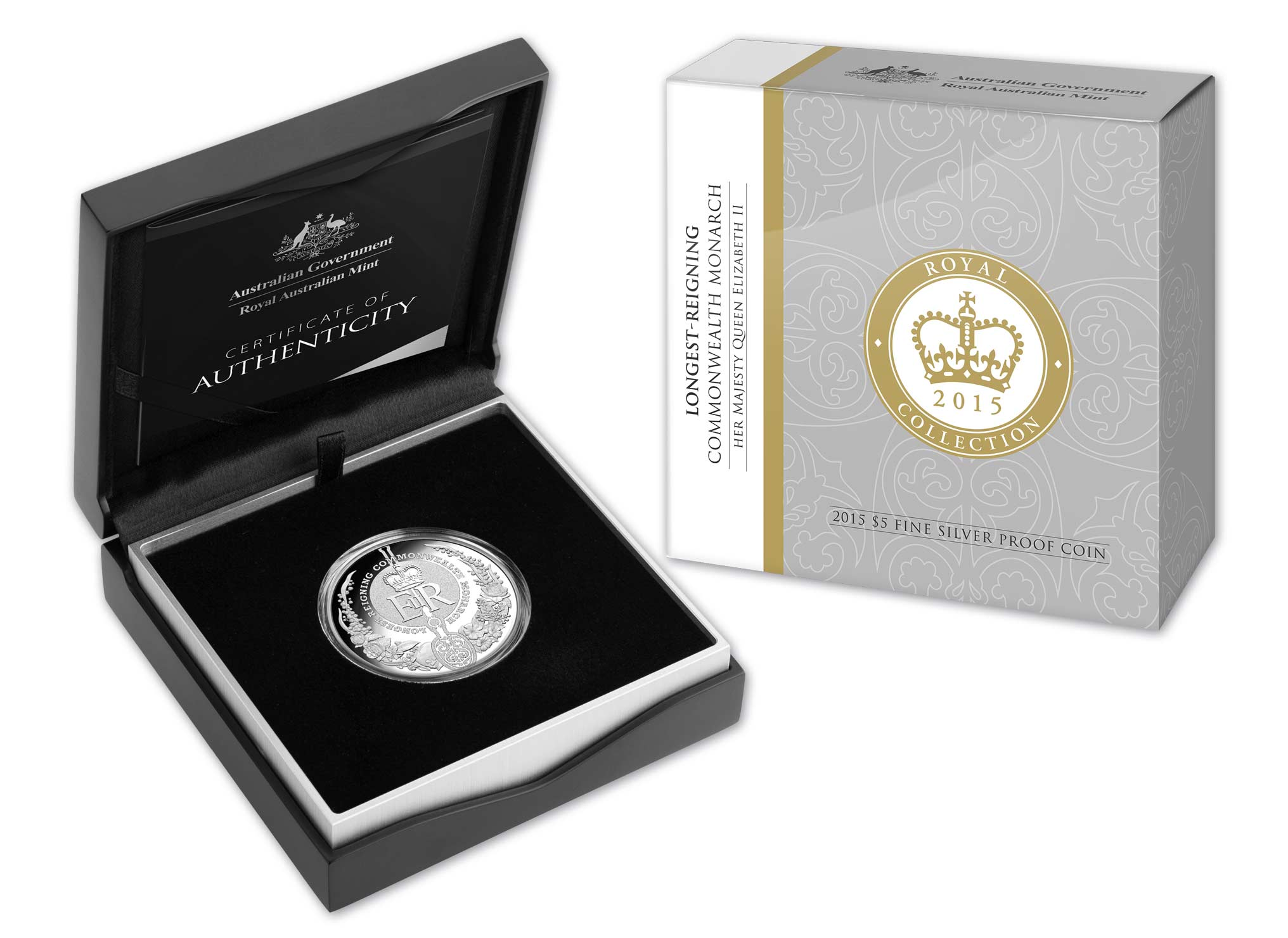 Longest Reigning Commonwealth Monarch 5 Fine Silver Proof