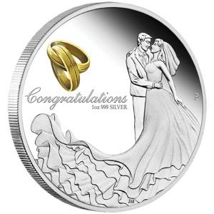 2016 Wedding 1oz Silver Proof Coin