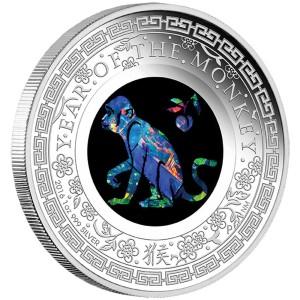 Australian Opal Lunar Series - Year of the Monkey 2016 1oz Silver Proof Coin