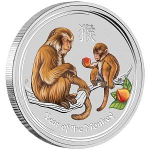 2016 Year of the Monkey 1 Kilo Silver Gemstone Edition