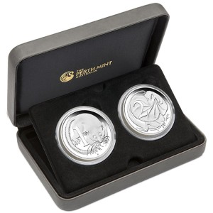 50th Anniversary of Australian Decimal Currency 2016 1oz Silver Proof Two-Coin Set