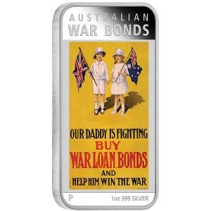 Australian Posters of World War: War Bonds, Australia, 2016, 1oz, .999