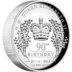 0-QueenElizabethII-90thBirthday-1oz-Silver-Proof-HighRelief-reverse