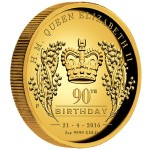 0-QueenElizabethII-90thBirthday-2oz-Gold-Proof-HighRelief-Reverse