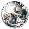 2016 50c Snow Leopard Cubs 1_2oz Silver Proof Reverse